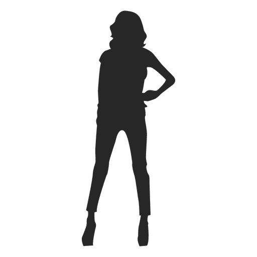 Fashion pose girl silhouette Transparent PNG