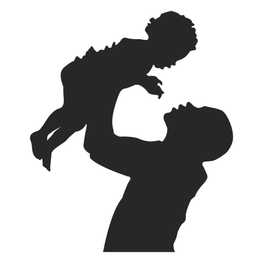 Father raising kid - Transparent PNG & SVG vector