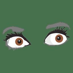 Expresión de los ojos del miedo