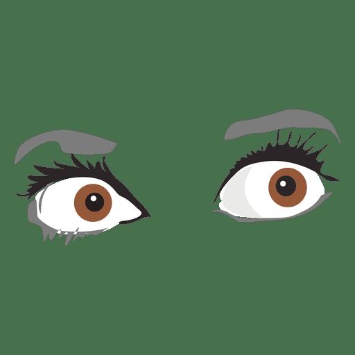 Expresión de ojos de miedo
