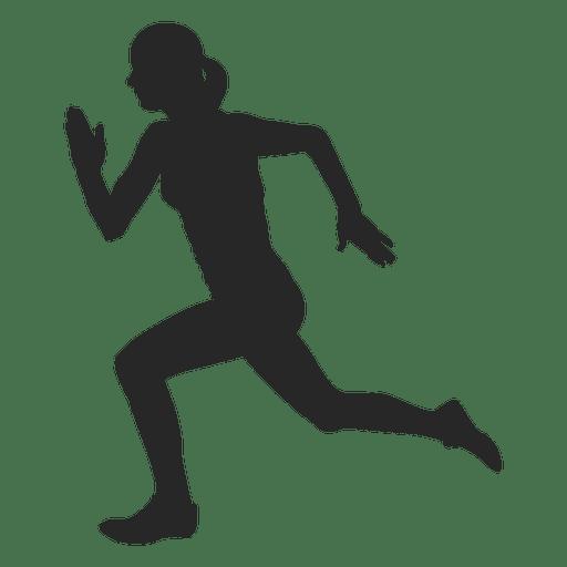 Atleta femenina corriendo