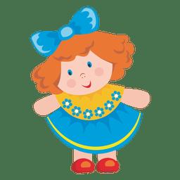 Desenhos animados de boneca feminina