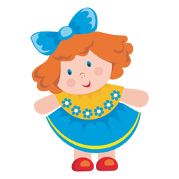 Female doll cartoon