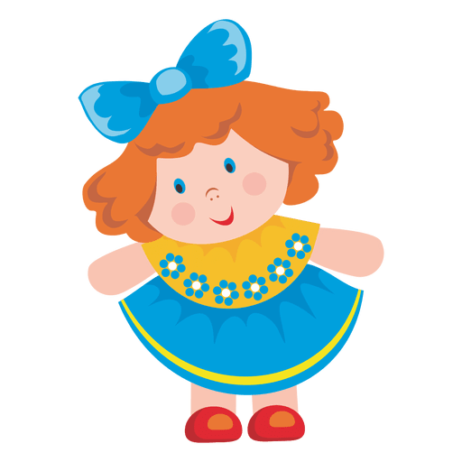 Female doll cartoon Transparent PNG