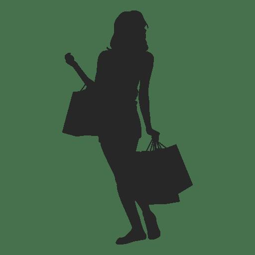 Fêmea segurando sacos de compras Transparent PNG
