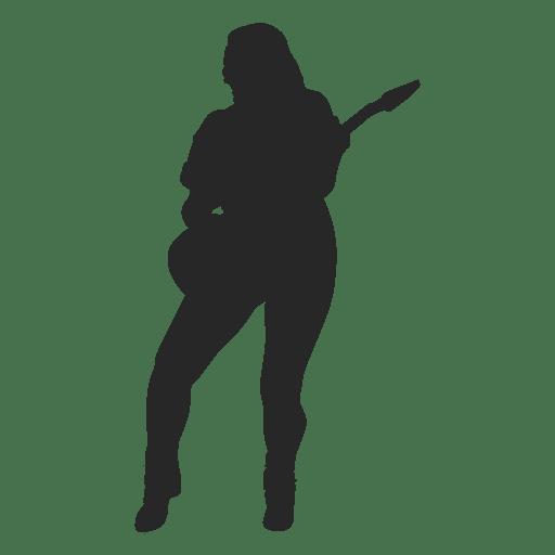 Mujer tocar la guitarra
