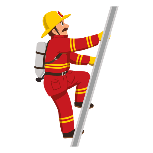 Escalera de escalada de bombero.