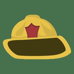 Desenho de chapéu de bombeiro
