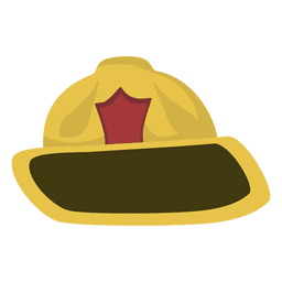 Dibujos animados de sombrero de bombero
