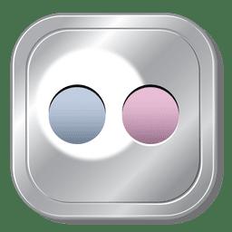 Flickr metallic button