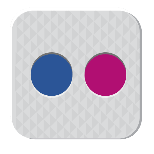 Flickr rubber icon Transparent PNG