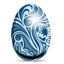 Floral pattern easter egg