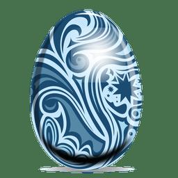 Huevo de Pascua con motivos florales