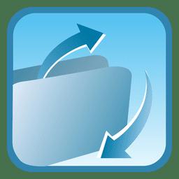 Folder square button