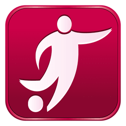 Fußball-Quadrat-Symbol