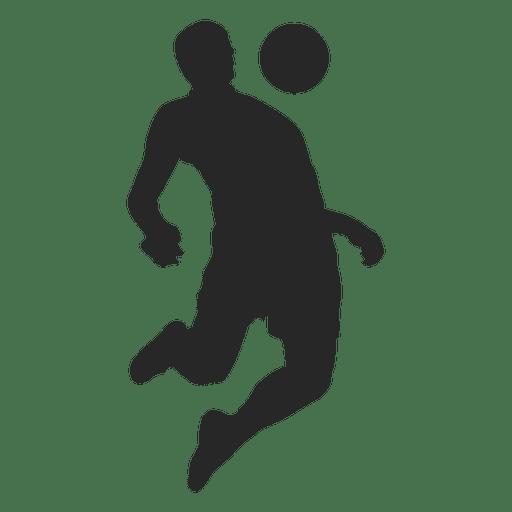 Footballer defencing ball