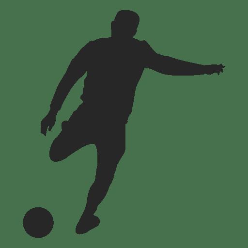 Futbolista patear la pelota