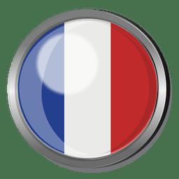 Frankreich Flagge Abzeichen