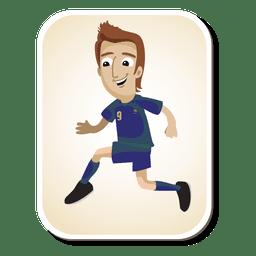 Dibujos animados de jugador de fútbol de Francia