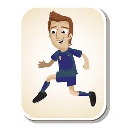 France football player cartoon