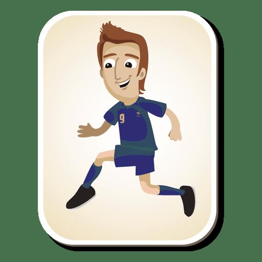 Dibujos animados de jugador de fútbol de Francia Transparent PNG
