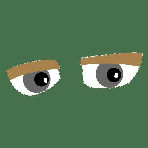 Funky cartoon eyes Transparent PNG