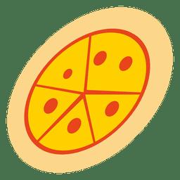 Dibujos animados de pizza funky