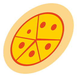 Funky pizza cartoon