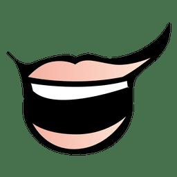 Boca de animais engraçados