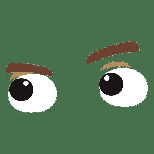 Expresión de ojos graciosos