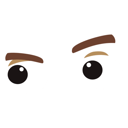 Funny eyes expression
