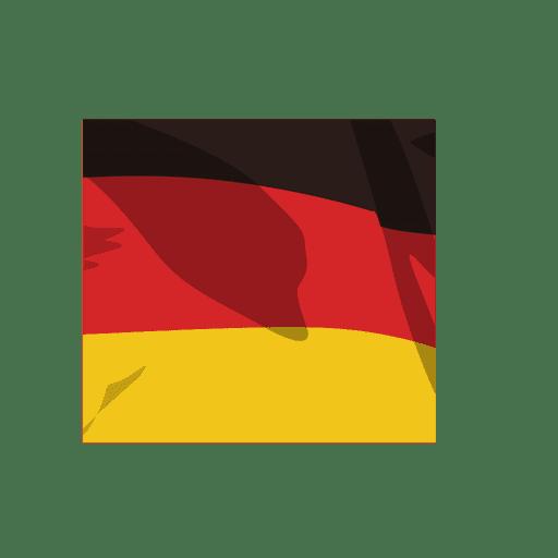 Dibujos animados de la bandera de alemania Transparent PNG