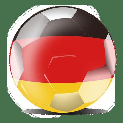 Bandera de futbol alemania Transparent PNG
