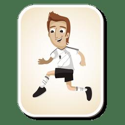 Dibujos animados de jugador de fútbol de Alemania