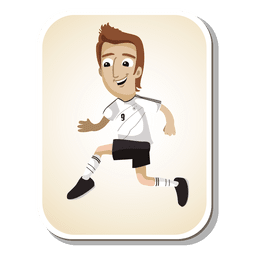 Germany football player cartoon