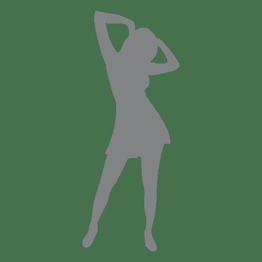 Girl dancing in disco Transparent PNG