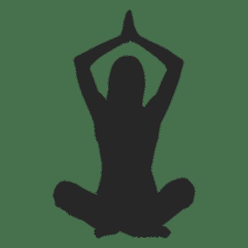 Chica haciendo yoga Transparent PNG