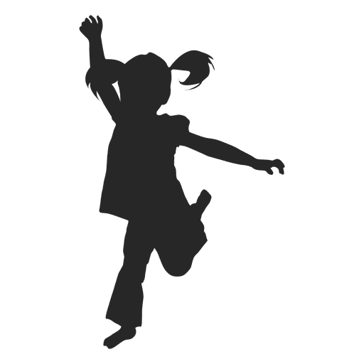 Girl jumping silhouette 6 - Transparent -  4.9KB