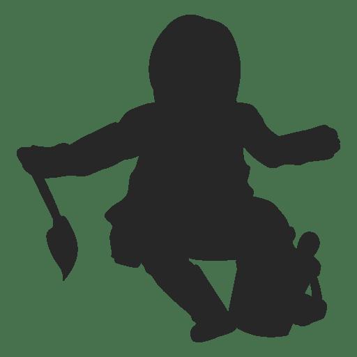 Toddler girl kid playing Transparent PNG
