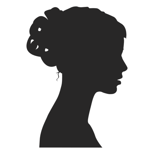Girl profile avatar Transparent PNG