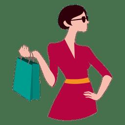 Menina com sacos de compras 6