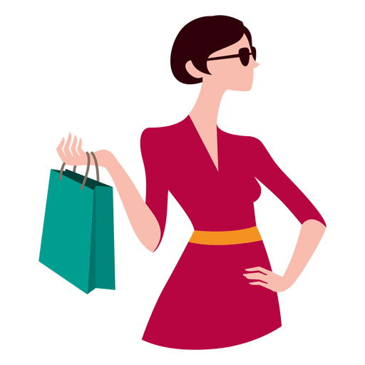Girl with shopping bags 6 - Transparent PNG & SVG vector