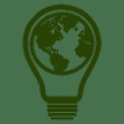 Globe bulb icon 3