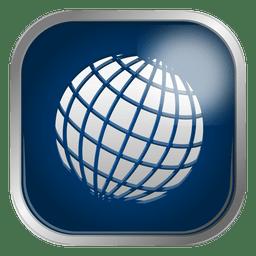 Globe grid icon