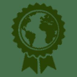 Globo mapa badge
