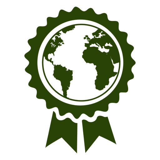 Globe map badge
