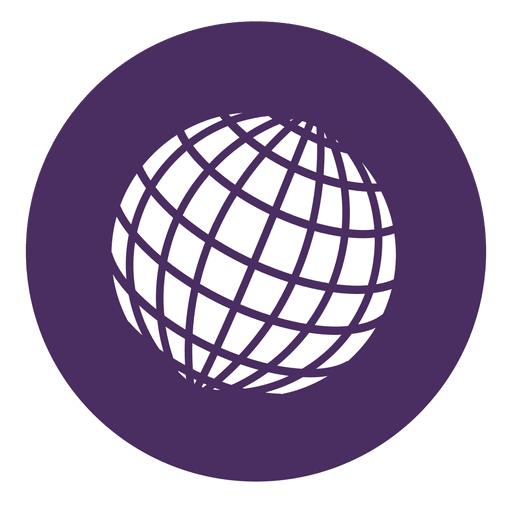 Globe round icon png
