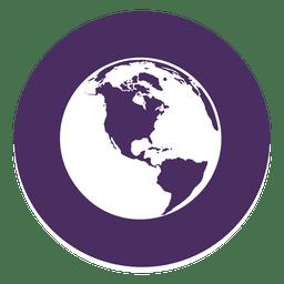Globe round icon 1