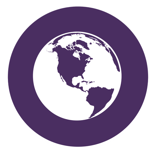 Globe round icon 1 Transparent PNG