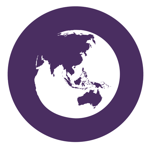 Globe round icon 2 png
